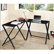 black glass steel x frame corner office desk black glass office desk