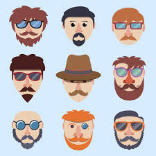 <b>Hipster</b> мальчик <b>лица</b> | Премиум векторы
