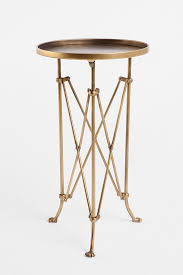 metal accordion side table brass and metal furniture