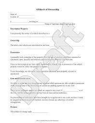 sample affidavit of ownership form template i love sample affidavit of ownership form template