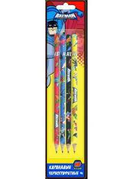 Набор графитовых <b>карандашей Action</b>! Бэтмен:отважный и ...