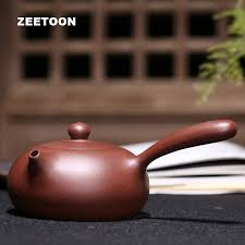 <b>280ml Authentic</b> Chinese <b>Yixing</b> Purple Clay Side Handle Teapot ...