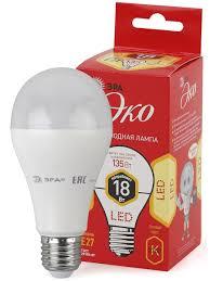 <b>Светодиодная лампа</b> ЭРА <b>ECO LED</b> A65-18W-827-E27 Эра ...