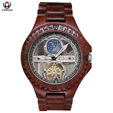 XINBOQIN <b>Brand Vintage</b> Men Sandalwood Watches Personalized ...