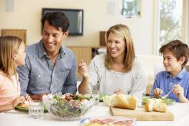 How To Have A Happy Family       Tips Backed By Research   Time com Time Family sharing meal