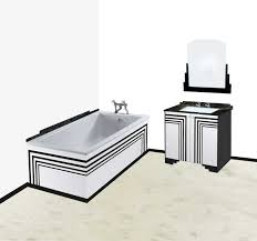 new art deco bathroom stepped vanity unit with carerra marble worktop wall mirror art deco furniture lines