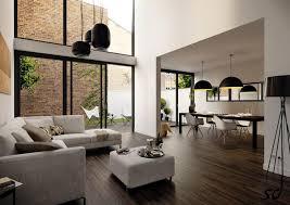 design open living room floor wood and pedant beautiful open living room