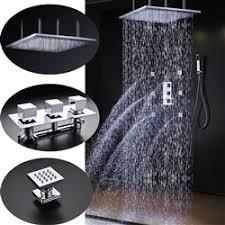 """Shop Fontana Sicily 40"""" x 40"""" <b>Chrome</b> LED <b>Rainfall</b> Shower System ..."""