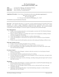 retail store manager job description for resume perfect resume  description job description retail