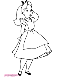 Small Picture Alice in Wonderland Coloring Pages 3 Disney Coloring Book