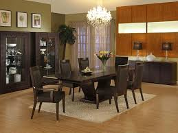 brown dining room idea table