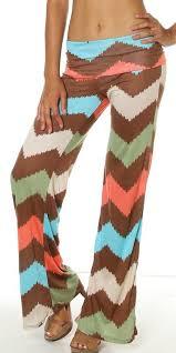 Chevrolicious Chevron <b>Stripe Wide Leg</b> Palazzo <b>Yoga</b> Pants ...