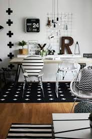 home study area love this black and white styling black white home office study
