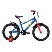 Детский <b>велосипед Stark Foxy 18</b> 2019, синий, рама One size ...