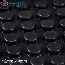 <b>320 PCS</b> 12*4mm Self <b>Adhesive</b> Black Anti Slip Silicone Rubber ...