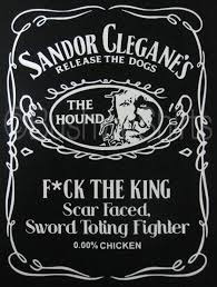 The Hound <b>F*ck The King</b> Game of Thrones Sandor Clegane White ...