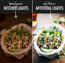 artificial lights for food photography artificial lighting set