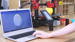 Gearbest-<b>Alfawise U30 Pro 4.3</b> inch Touch Screen 3D Printer