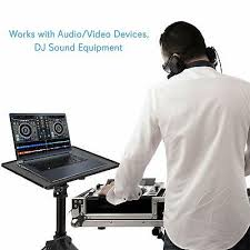 DJ Laptop <b>Stand Projector Tripod Adjustable</b> Height <b>Portable</b> ...