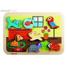 <b>Janod</b> Pets Chunky Puzzle | Детские <b>игрушки</b>, <b>Деревянные</b> ...