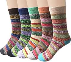 Pack of 5 Womens Vintage Style Cotton Knitting <b>Wool</b> Warm <b>Winter</b> ...