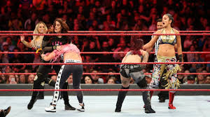 <b>Trish</b> Stratus, Lita, Sasha Banks, Bayley & Natalya vs. The Riott ...