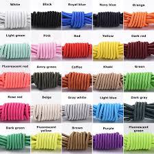 <b>1Pair</b> Elastic Locking <b>Shoelaces</b> Round No Tie Shoe <b>Laces</b> Kids ...