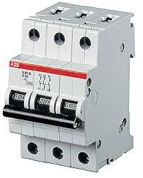 ABB S203P <b>Автоматический выключатель 3P 10А</b> (D) 25kA