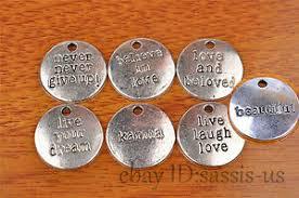 <b>10pcs love words</b> Charm Silver Pendant DIY Jewelry making For ...