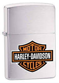 <b>Зажигалка ZIPPO Harley Davidson</b> с покрытием Brushed Chrome ...
