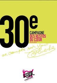 Resultado de imagen de 30ème campagne des Restos du Coeur
