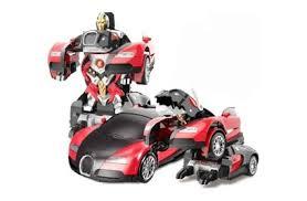 <b>Радиоуправляемый</b> трансформер робот зверь Bugatti Veyron ...