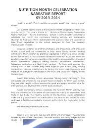 nutrition month 2014 essay english tcu nutrition month ayucar com narrative in nutrition month copy nutrition