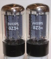 (!) (BEST VALUE PAIR) GZ34 Philips Mullard NOS 1975