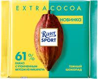 <b>Шоколад RITTER SPORT</b> Темный 61% какао – купить в сети ...
