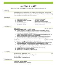 teacher resume examples substitute teacher resume summary teacher resume 1