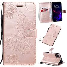 Cmeka 3D <b>Butterfly Wallet Case</b> for iPhone 11 2019 6.1 inch with ...