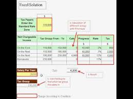 excel solution  how to calculate progress rate of salary tax  excel solution how to calculate progress rate of salary tax vlookup formulaavi