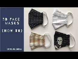 How to make a simple <b>3D face mask</b> | Fabric Face Mask Sewing ...
