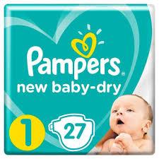<b>Подгузники Pampers New</b> Baby 1 (2-5 кг) 27 шт для новорожденных