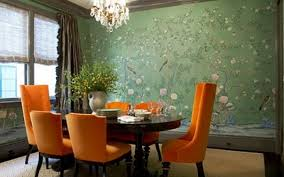 Floral Dining Room Chairs Dining Room Orange Fabric Dining Room Chair With Green Painted