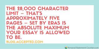 Amcas Personal Statement      Characters With Or Without Spaces Editing personal statement character limit