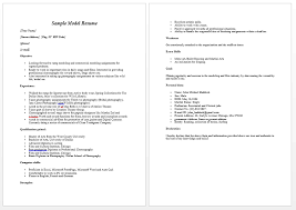 how to make a modeling resumes   uhpy is resume in you modeling resume