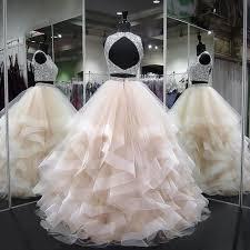 Gergeous <b>Crystal Beading</b> Two Piece Tulle <b>Prom</b> Dress, Long ...