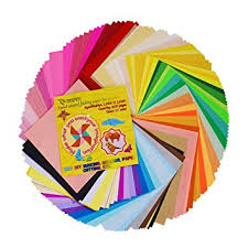 Onepine 50 Vivid <b>Colors</b> 200 Sheets Origami Paper <b>6</b> by <b>6 Inch</b> for ...