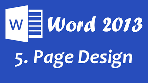 microsoft word 2013 page design tutorial microsoft word 2013 page design tutorial