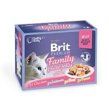 <b>Brit Premium</b> набор <b>паучей</b> для кошек <b>Family</b> Plate кусочки в желе ...