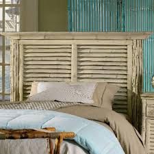 coastal bamboo louvered white headboard bedroom furniture beach house