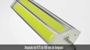 Ampoule <b>led R7S</b>, <b>189mm</b>, 15W, blanc chaud / blanc froid - YouTube