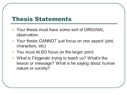 thesis statements establishing the main idea of your critical